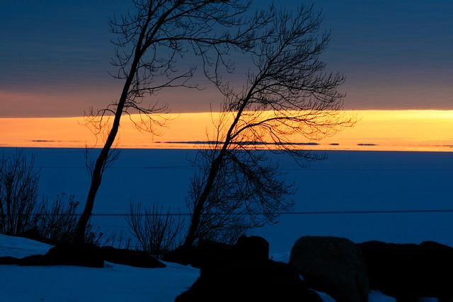Winter Shore at Sunrise, Duluth 2/12/08 #lakesuperior