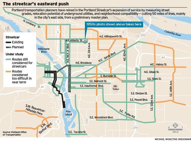 portland street car map Portland Streetcar Map Of Proposed Expansions Portland Or Flickr portland street car map