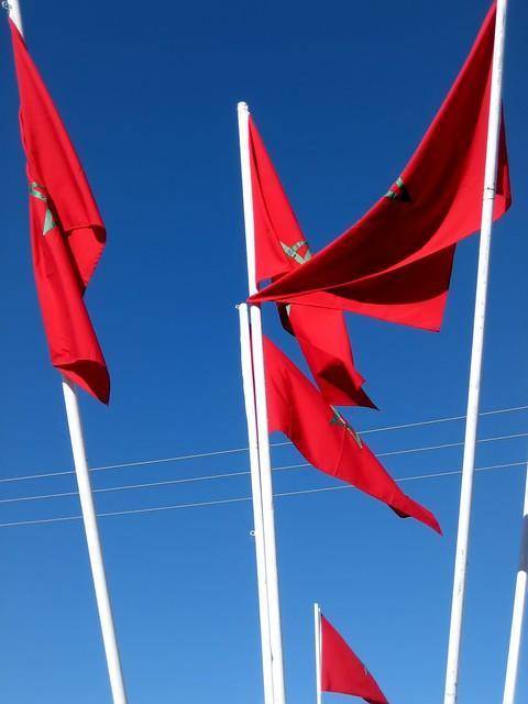 rote fahne mit stern
