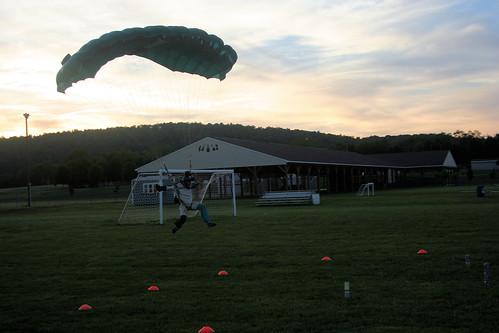 sunset orange skydiving dropzone