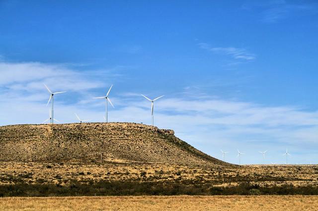 Windmills east of Ft. Stockton TX