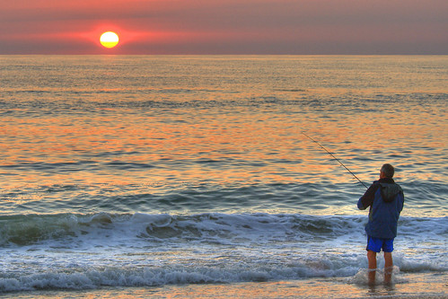 morning red sea sun beach sunrise fishing northcarolina outerbanks obx