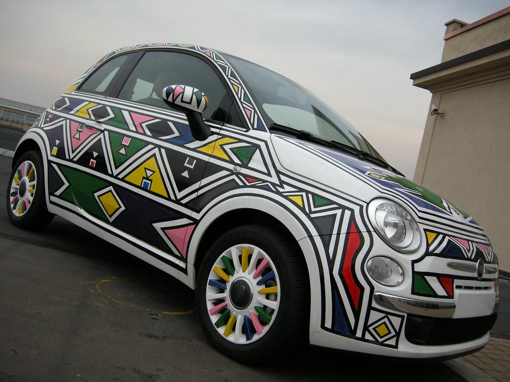 Fiat 500 Opera D Arte Di Esther Mahlangu 2007 S Rider Flickr