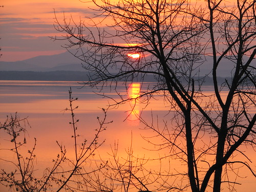 sunrise over the lake | by Kathryn Cramer