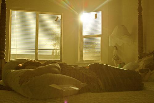 window sunrise bed sleep flare