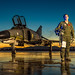 "Lt. Col. (Ret) Jim ""WAM"" Harkins, participated the final military flight of the storied F-4 Phantom II at Holloman AFB, N.M., Dec. 21, 2016. The F-4 Phantom II entered the U.S. Air Force inventory in 1963 and was the primary multi-role aircraft in the USAF throughout the 1960s and 1970s. The F-4 flew bombing, combat air patrol, fighter escort, reconnaissance and the famous Wild Weasel anti-aircraft missile suppression missions. The final variant of the Phantom II was the QF-4 unmanned aerial targets flown by the 82nd at Holloman AFB. (U.S. Air Force photo by J.M. Eddins Jr.)"