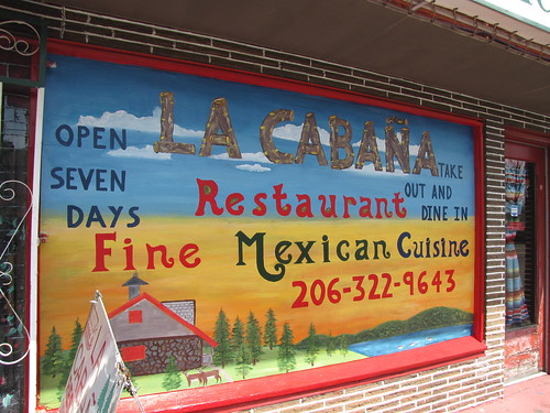 Newly-painted sign at La Cabaña | by litlnemo