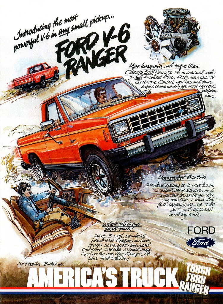 1983 Ford Ranger V6 (USA) | A mid-year addition to the Range