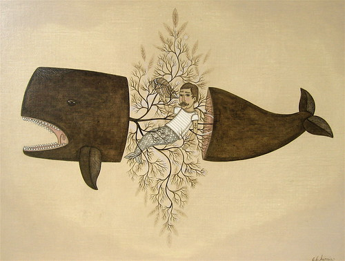 "Evan B. Harris ""Brown Whale and Shells"""