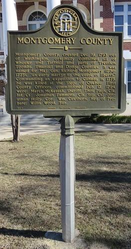 georgia ga courthouseextras georgiahistoricalmarkers montgomerycounty mountvernon northamerica unitedstates us