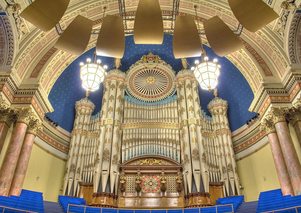 HDR - Organ inside Leeds Town Hall | Tiddler | Flickr