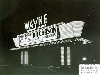 Wayne Drive In Theatre Marquee Wayne Michigan What An A Flickr