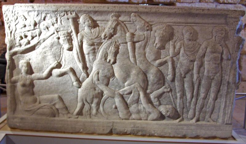 Sarcòfag d'Hipòlit (darrere)
