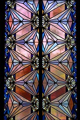 Art deco stained glass - Tulsa, Oklahoma | by Treescaper