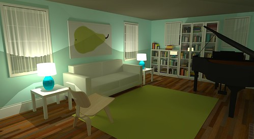 Google Sketchup Living Room Ikea Lack Side Tables
