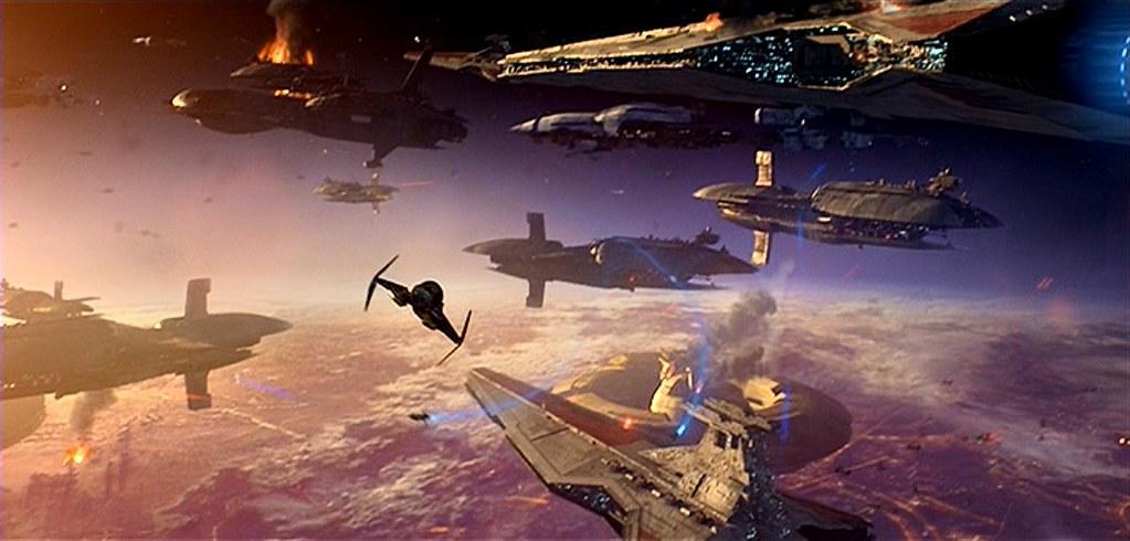Resultado de imagem para star wars episode 3 battle of coruscant