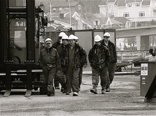 Dockyard workers | by AstridWestvang