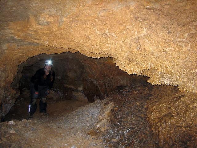 Alexis in Foxhole Cave, Van Buren Co, TN