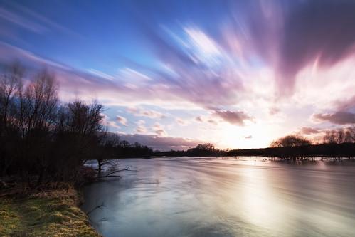 deutschland nrw rheinland lohmar agger hochwasser langzeitbelichtung verlaufsfilter