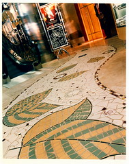 "A beautiful Mosaic floor that I laid, for Bigsby & Kruthers ""last gasp"" store on Chicago's Mag Mile."