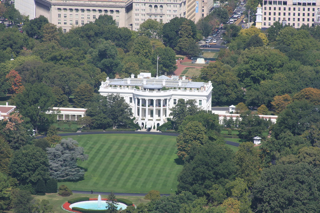 Miraculous Aerial View Of White House The White House From The Washin Download Free Architecture Designs Scobabritishbridgeorg