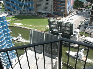 View of drawbridge from my room at the Hyatt