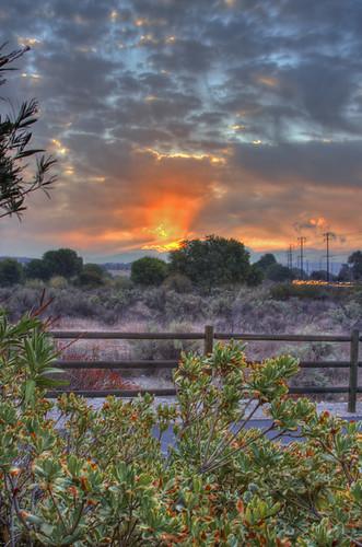 california road santa sunrise soledad clarita