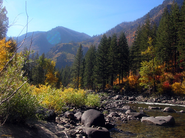 Along the Wenatchee River