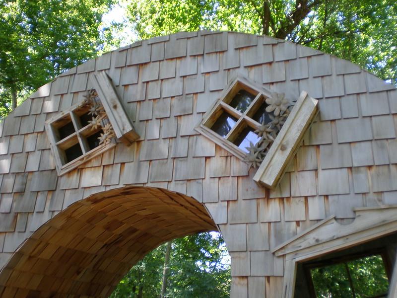 John McNaughton 'Twisted House' 2005, Indianapolis Art Center Artspark, Indianapolis, Indiana