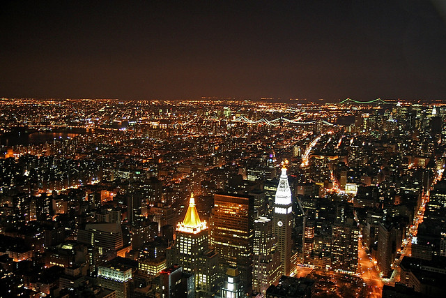 New York By Night from the Empire State Building