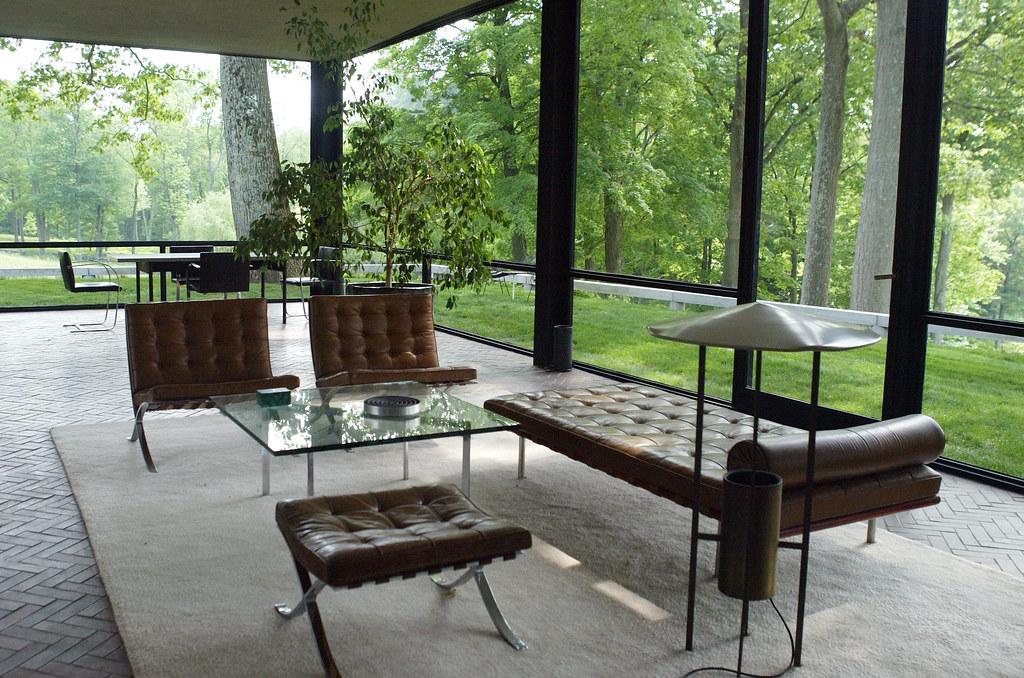 The Glass House Philip Johnson Inside The Transparent Bo Flickr