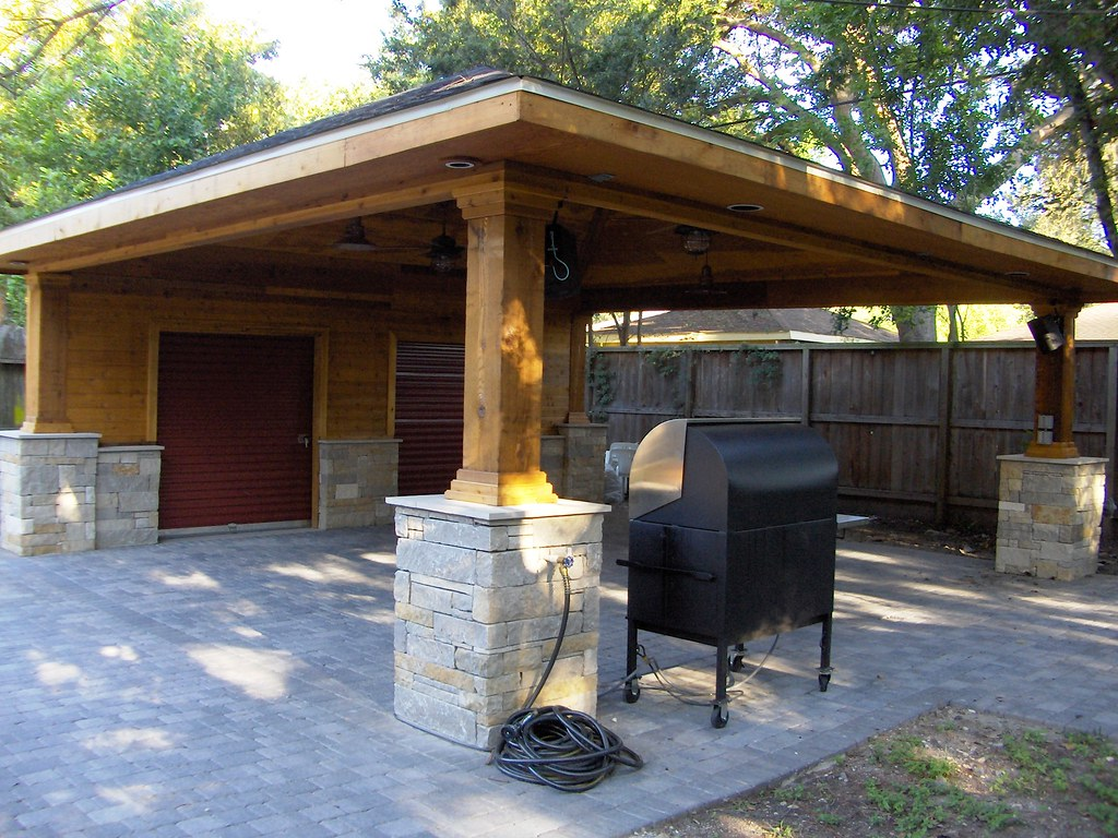 Paver Driveway With Carport And Storage 5 Scott Ward