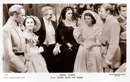 Leslie Howard, Olivia De Havilland and Vivien Leigh in Gone with the wind (1939)