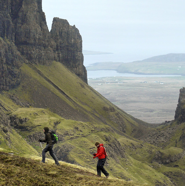 Steep heather slopes at Quiraing