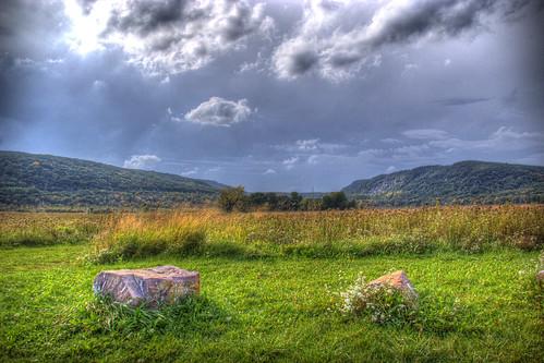 sky grass wisconsin clouds landscape scenic hills quartzite mounds glacial baraboohills crispair