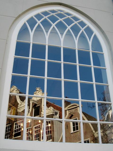Window of the English Church in Amsterdam