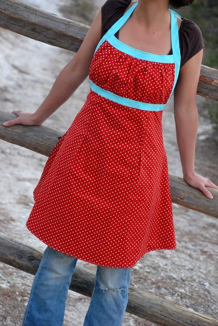 Emmeline Apron for Tie One On Polka Dots