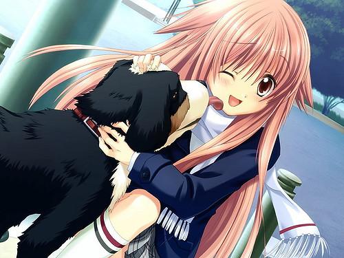 dog girl anime