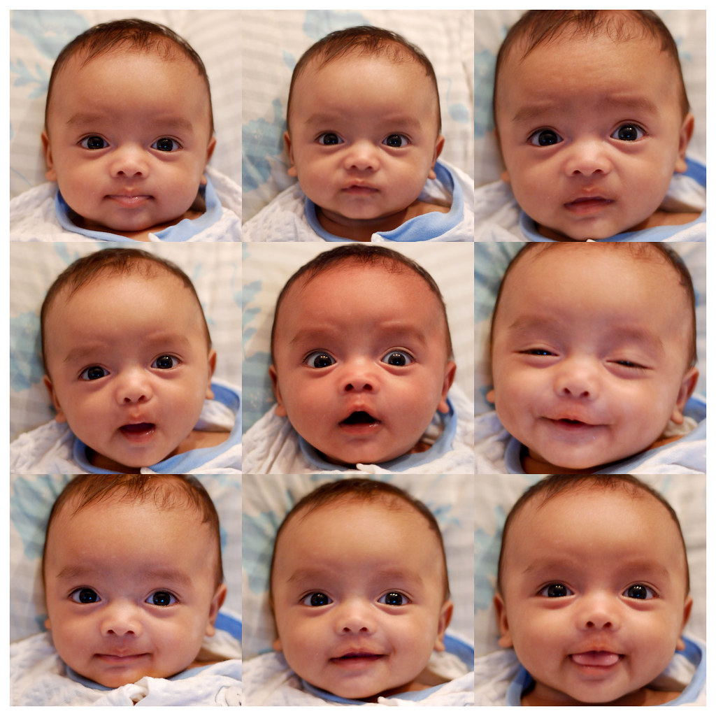 By fendyzaidan 9 different faces of a morning baby by fendyzaidan