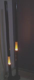 dekorasi rumah lighting, lampu bambu | this photo belongs