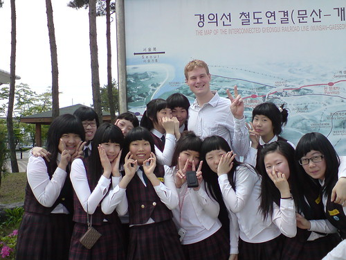 Me w/ korean schoolgirls | by kalleboo