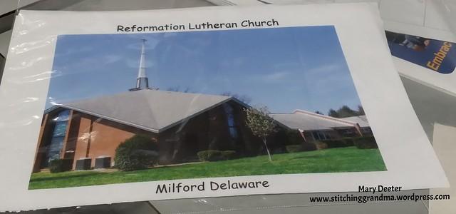 Church photo printed on fabric