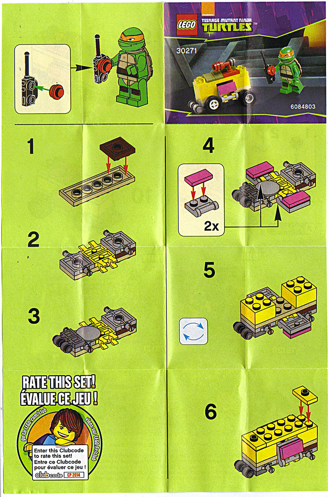 "LEGO TEENAGE MUTANT NINJA TURTLES :: ""Mikey's Mini-Shellraiser"", ..instructions i  (( 2014 )) by tOkKa"