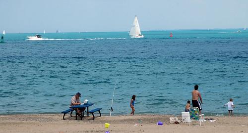 blue beach sailboat catchycolors landscape boat d70 greatlakes lakehuron porthuron joeldinda