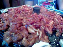 Sizzling pork