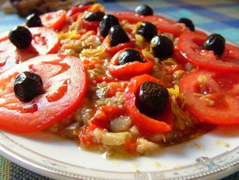 Patlıcanlı Biberli Salata
