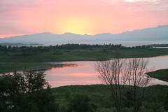 Sunrise on Miyun Reservoir