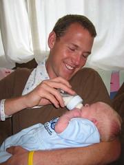 Daddy's 1st Feeding