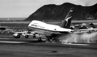 Wellington's first 747, 1981