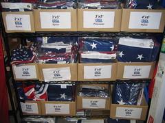 huge rack o' flags